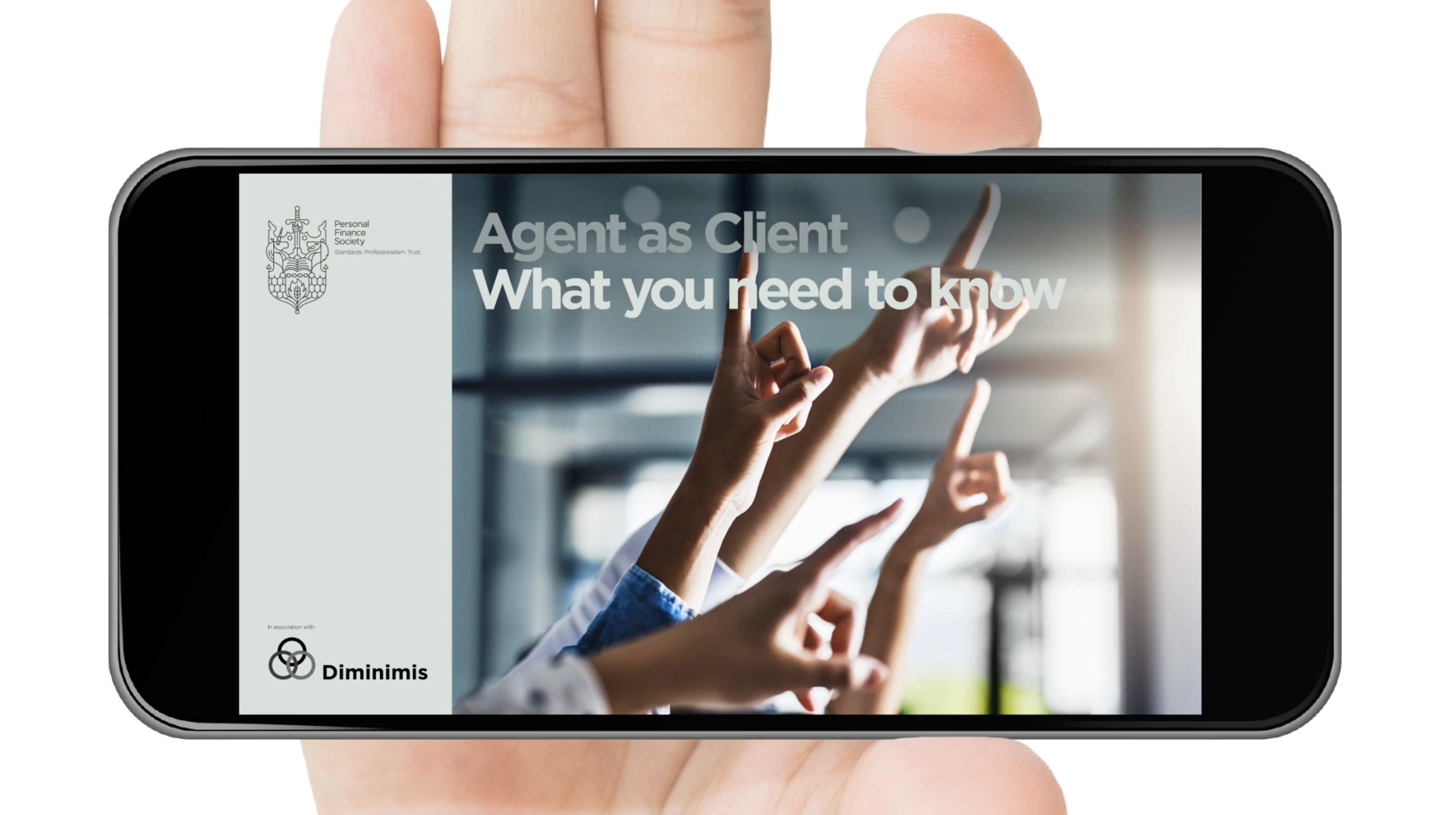 Diminimus Digital guide for financial services, Digital document design, design and branding
