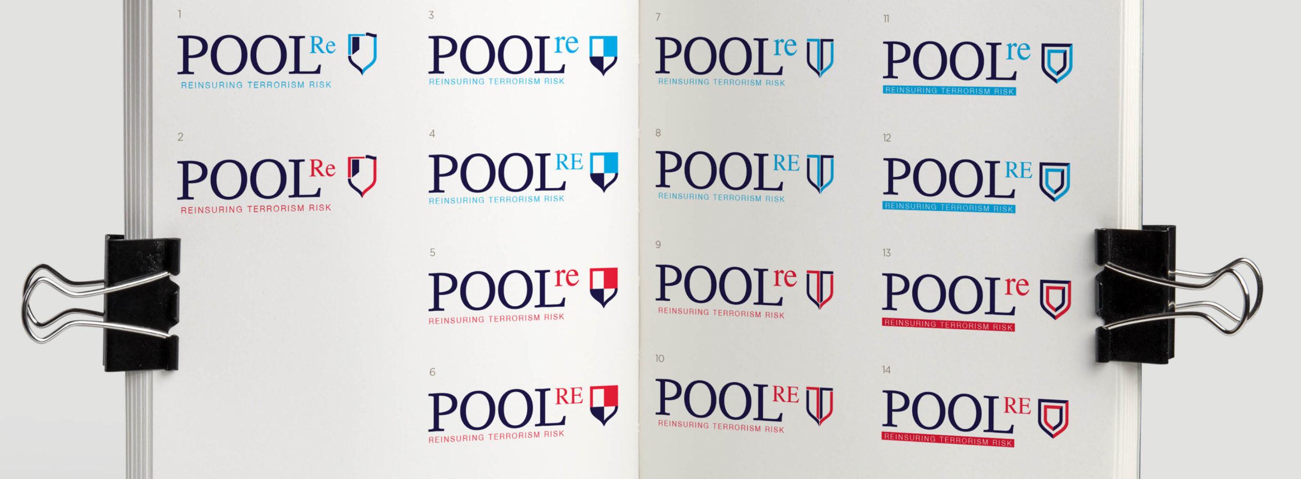 Pool Re branding, logo design, new logo, insurance branding and design